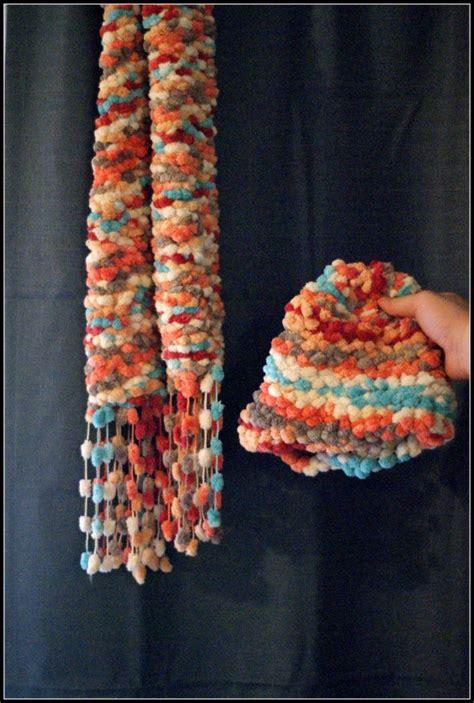 yarn for loom knitting loom knitting bunnytail yarn scarf and hat loom knitting