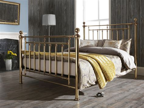 Metal Bed Frame For King Size Bed Serene Solomon King Size Brass Metal Bed Frame