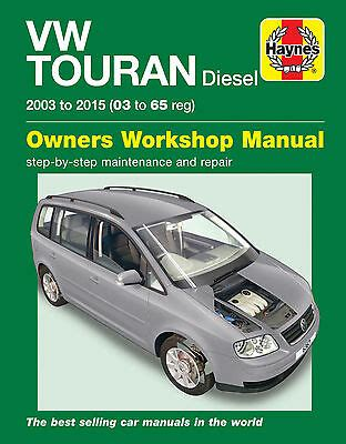 6367 Haynes Vw Touran Diesel 2003 2015 Workshop Manual