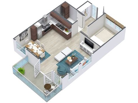 3 room 3d house plan 3d floor plans roomsketcher
