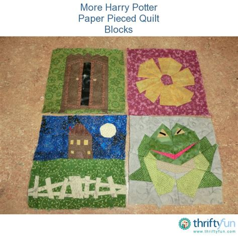 Harry Potter Quilt Blocks by More Harry Potter Paper Pieced Quilt Blocks Thriftyfun