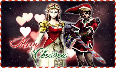zelda wallpaper christmas zelda and link christmas by saiitoumichiyo on deviantart