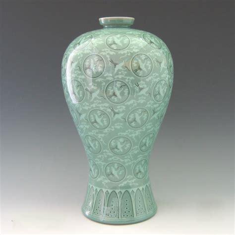 Thousand Cranes Vase Replica Of The Great 12th Century Goryeo Celadon Vase