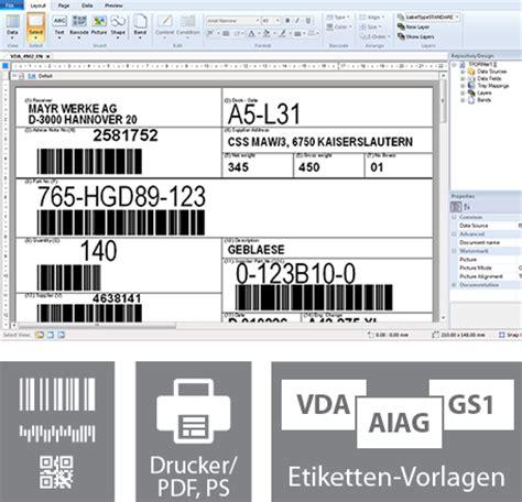 Barcode Etiketten Drucken Online by Etikettensoftware Druckt Barcode Labels Etiketten