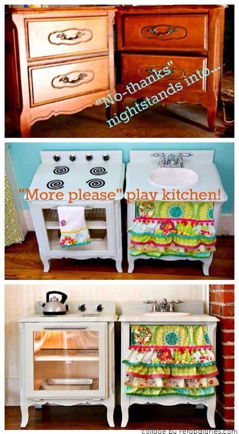 9 old furniture 10 fantastic diy play kitchens diy kids play kitchen i love them n ur kids will too so