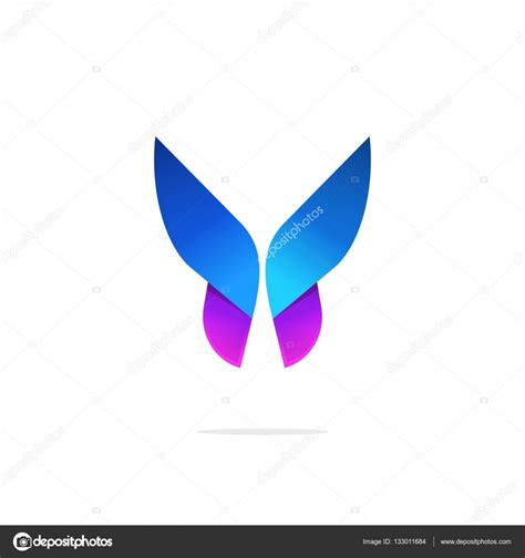 colorful butterfly logo butterfly colorful logo template with gradient on wings