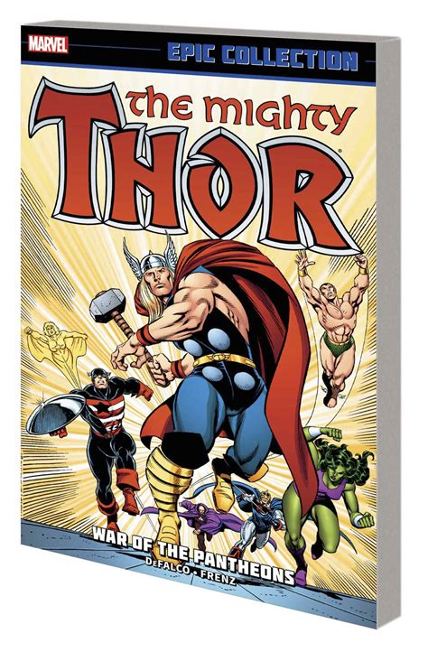epic collection fall of the pantheon thor epic collection tpb war of pantheons in color new