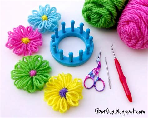 free patterns and instruction on making flower hair clips fiber flux how to make a loom flower