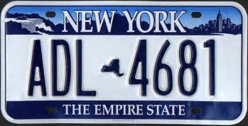 new york car license plate state with the coolest looking license plate raise