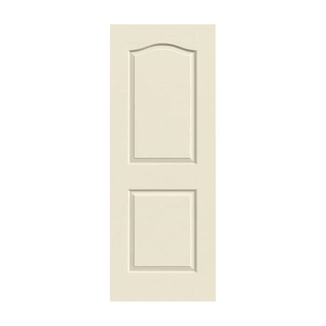 Jeld Wen Doors Interior Jeld Wen 28 In X 80 In Molded Textured 2 Panel Eyebrow Primed White Solid Composite
