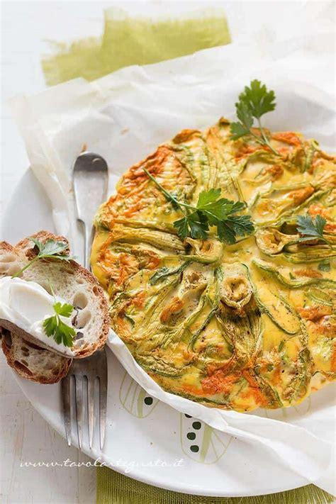 frittata con fiori di zucca frittata con fiori di zucca al forno ricetta leggera e