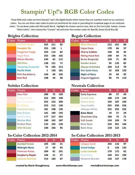 rgb color codes stin up 2012 13 pdf stin up craft ideas t
