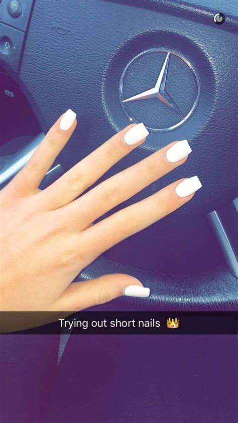 short coffin nails margaritasnailz pinterest coffin nazanin kavari yt short white acrylics coffin nails