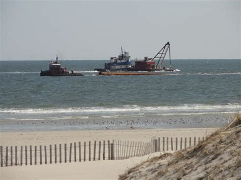boat rentals ocean beach nj beach replenishment to resume in ocean city s south end