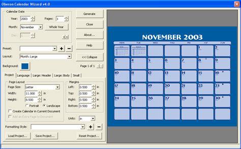 Calendar Wizard Using Calendar Wizard 4 1