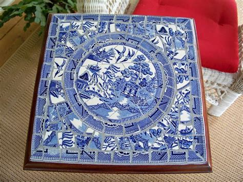 willow pattern mosaic 17 best images about mosaic furniture on pinterest plant