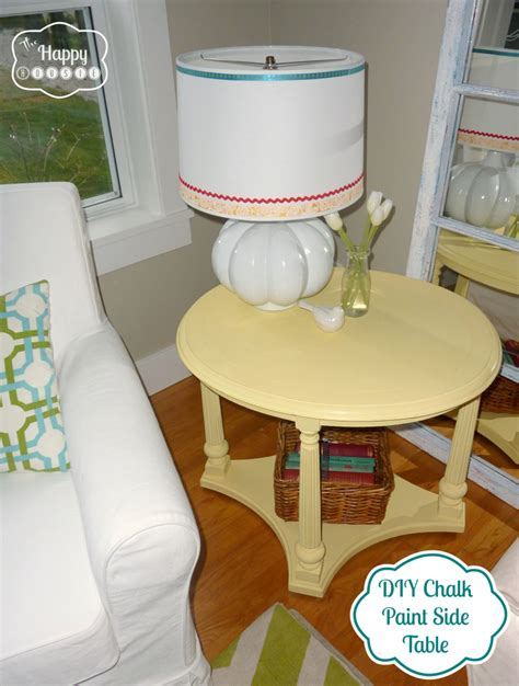 diy using chalk paint mellow yellow diy chalk paint side table the happy housie