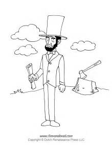 abraham lincoln coloring page tim de vall comics printables for