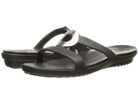 crocs sanrah sandal crocs sanrah beveled circle sandal black black zappos
