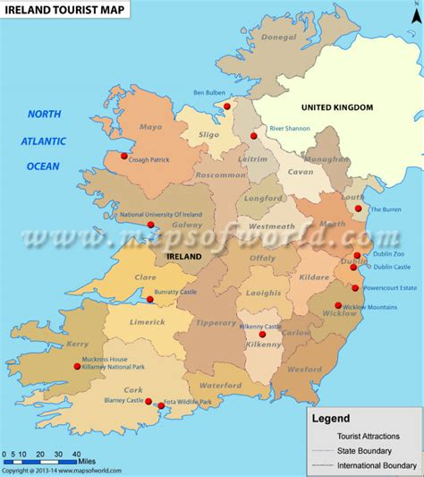 boat driving licence ireland picture map of ireland with tourist attractions emaps world