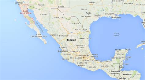 map california mexico where is baja california on map mexico