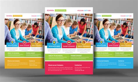 education flyer templates education flyer template flyer templates on creative market