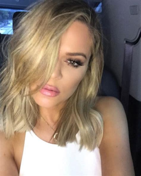 what does a long bob look like khloe kardashian s haircut short lob makeover get her