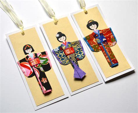 Origami Kimono Folding - origami handmade origami kimono doll bookmarks b origami