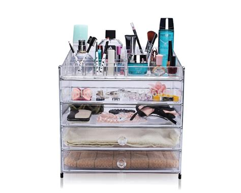 Organizing Makeup Drawers by Free Shipping New Large Acrylic Drawers Organizer Makeup