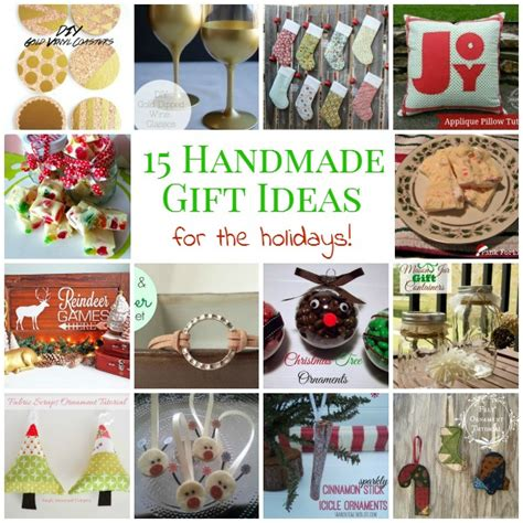 Handmade For The Holidays - 15 handmade gift ideas