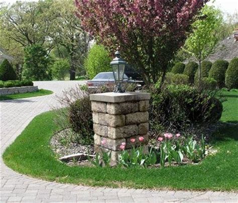 Light Post Landscaping Ideas Allan Block Courtyard Collection Light Post For An