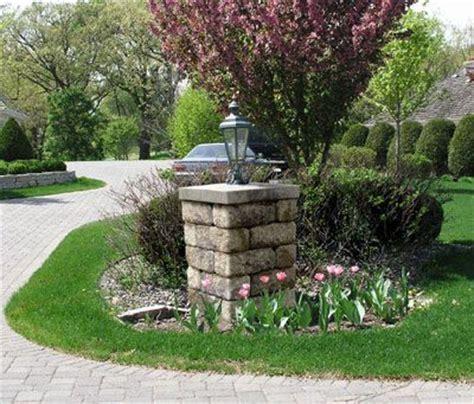 Allan Block Courtyard Collection Light Post For An Light Post Landscaping Ideas