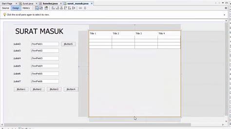 tutorial membuat aplikasi menggunakan netbeans tutorial membuat aplikasi surat masuk surat keluar