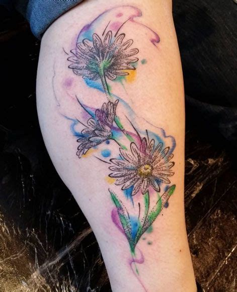 watercolor daisy tattoo best 25 watercolor ideas on