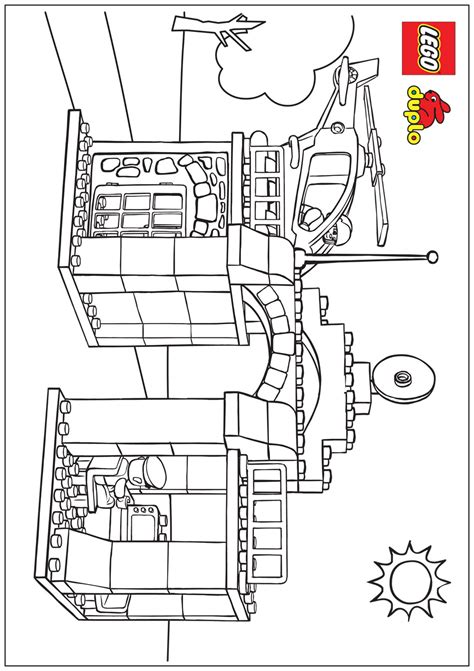 coloring page lego police free coloring pages of lego city police station