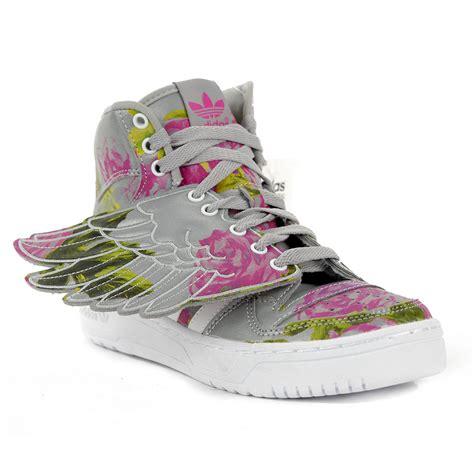 adidas floral shoes adidas originals wings floral reflective grey