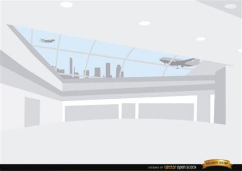 Airport On White Background Vector Free