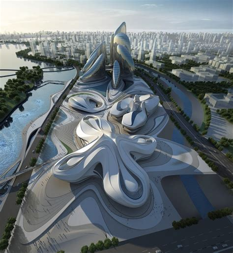 zaha hadid modern architecture zaha hadid s modern art center unveiled in china my