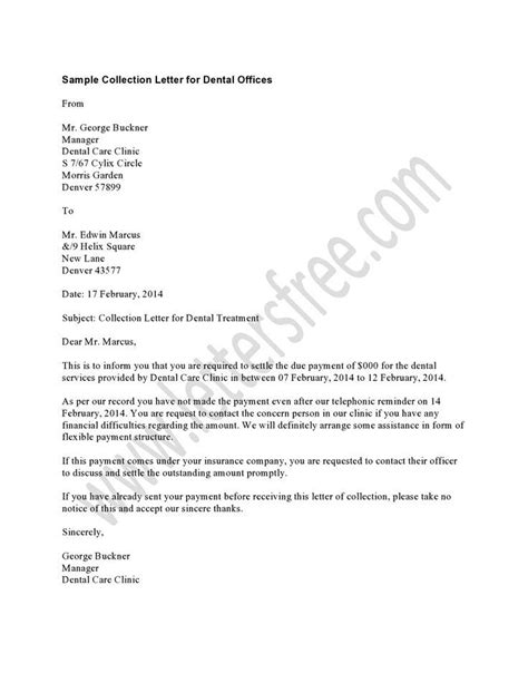 dental collection letter       late notice  remind  patients