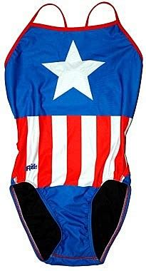 Captain America Blue Swimsuit take a splash this summer with splish s swimwear fashion