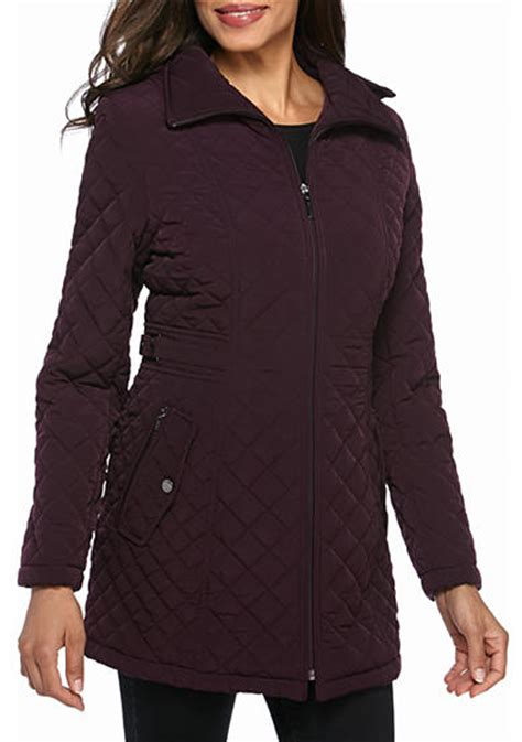 Gallery Quilted Coat by Gallery Mid Length Quilted Coat Belk