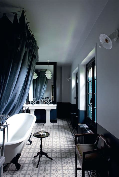 black master bathroom creative home designed by two artists digsdigs
