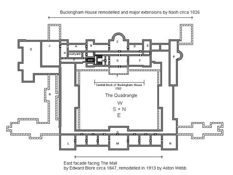 buckingham palace floor plan art now and then buckingham palace