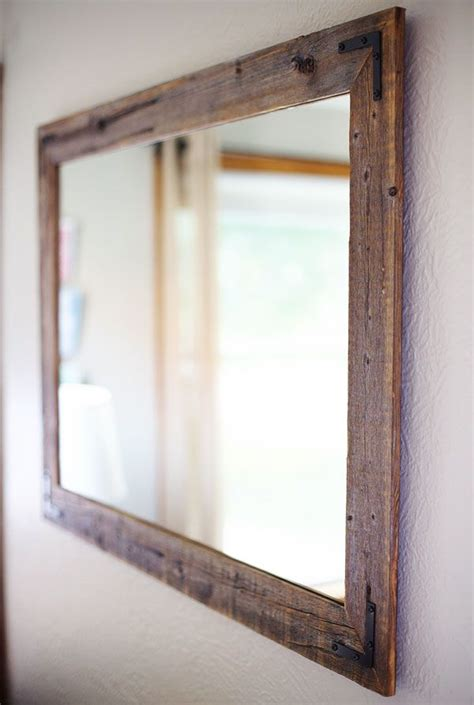 wood framed bathroom mirrors and best 25 reclaimed