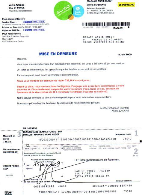 Modele De Lettre En Entreprise Exemple Mise En Demeure Bruit Document