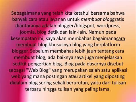membuat blog ppt cara membuat blog ppt