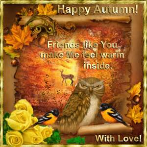friends like you free happy autumn ecards greeting