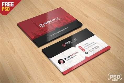Free Corporate Business Card Psd Download Psd Card Psd Template Free