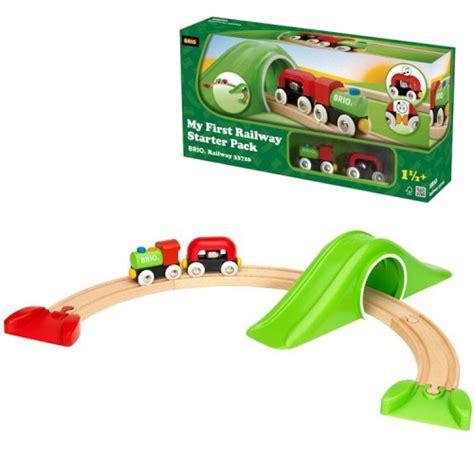 brio starter train set brio my first railway starter pack 9 pc toddler train set