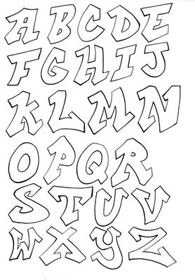 letters graffiti alphabet